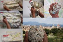 CRUMPLED MAPS from LAC / Crumpled maps, design, maps, LAC, Florence, litografia, artistica, cartografica