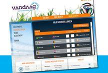 Campagne WK Voetbal 2014 | Vandaag Personeelsdiensten / Voorbeelden uit de online campagne van Vandaag Personeelsdiensten inhakend op het WK Voetbal 2014
