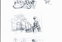 misoduha_sketches (rough&pencils) / illustrations, golf paintings, gliclee print, sketch, sketching, storyboard, visualisation, characters, body