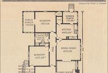 Vintage Single Story House Plans