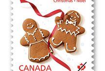 Kanadalaisia joulupostimerkkejä