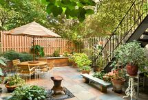 large side yard landscaping - no grass / by Pamela