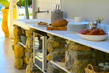 Mediterranean Outdoor Kitchen - VLK, Rhodes / Some clever design ideas to create a fantastic outdoor Mediterranean Kitchen.