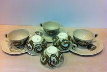 Tasses céramique / Mélange de grès et porcelaine cuits à 1280'