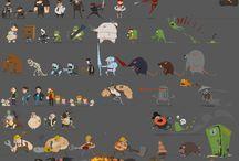 Pixel-Art Characters Side