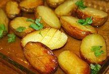paahdetut perunat uunissa