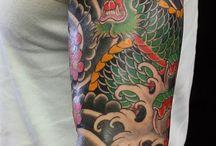 japanische Ganzarm-Tattoos