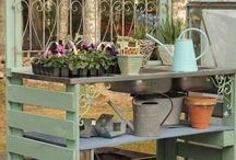 Garden and potting shed