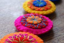 Embroidered felt circles