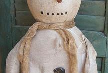Rustic snowmen