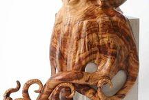 rzeźby drewno