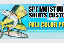 Custom Unique Apparel / Customize and create SPF proof shirts, t-shirts and long sleeved tees. For bass or deep sea fishing tournaments, cycle team. Dri Fit SPF clothing