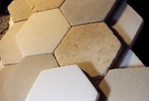 Greek marble for your garden / Marble tiles square hexagon and octagon ,honed and striking non slip surface. Marble relief sculpture.