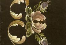 Rosemaling & Bauernmalerei & Hindeloopen