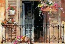 Watercolor: windows and doors