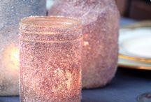 mason jar decor / by Emily Vester