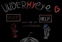 UnderMyEye comic EN / Undertale parody comic :)