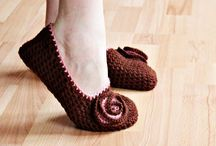 sapatos em crochet