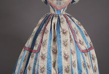 Fashion - 1840s-1850s-1860s / Wide, wider, widest! From layers of horsehair and/or quilted crinolines of the 1840s and early 1850s to the cage crinolines (hoop skirts) of the late 1850s and 1860s.