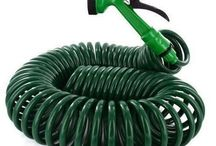 Hose Water Garden Pipe Outdoor Flexible Nozzle Spray Green Deluxe Expanding Coil