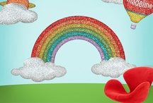 Disco Rainbow Room / Groovy! Here are some bright and colorful ideas to decorate your child's or teen's room in all the colors of the rainbow.
