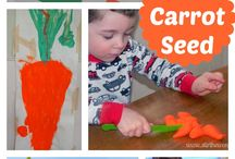 PreK- The Carrot Seed / Before Five In a Row preschool activities