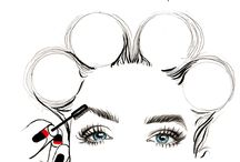 makeup illustration