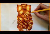 Hair styles drawings / coafuri, schite