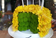 Edible designs with flowers
