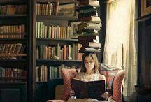 drink tea - read book -bee happy