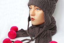Zimné čiapky - Ušianky / Inšpirácie hačkovanych a pletených zimných čiapok tzv. Ušaniek
