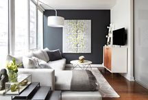 small space living room / by Kristen Best