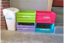 DIY Rubbish and Recycle Bins