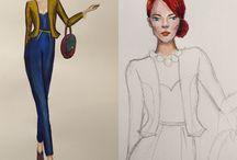 My fashion skeach / Designing