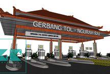 NGURAH RAI – BENOA toll gate / Type : Commision, Programmatic : Commercial, Client : PT. Jasa Marga, Colaborators : PT. Multhi Phibeta, Size : 800 M2, Height : 15 M, Location : Bali, Indonesia, Years : 2012   gubah ruang #gubahruang  www.gubahruang.com