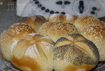 Brot Brötchen und Pizza