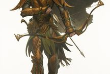 Elven/Human warriors for game