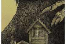 MONSTER'S / Amazing post it note sketches of monsters by John kenn mortensen