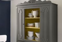 Repurpose Inspiration / Reclaim old furniture with a fresh coat of paint or new fabric.