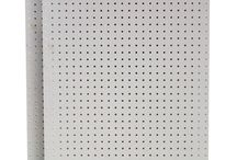 DuraBoard Pegboard / Commercial White Polypropylene and Black Polyethylene DuraBoards and Kits