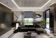 Дизайн интерьера резиденции в поселке Рублево в стиле минимализм / Дизайн спроектирован для резиденции в поселке Рублево. Минималистический стиль делает жилое пространство дома не только удобным, но и красивым. Всё помещение выдержано в единой цветовой гамме.  В интерьере много свободного пространства, а большие окна насыщают резиденцию естественным светом.