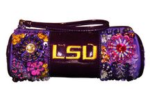 Sparkle U / Laura Lee Designs University Collection with Collegiate Licensed Approved schools: Texas A&M, Texas Christian University (TCU), Oklahoma University (OU), Oklahoma State (OSU), University of Houston (UH), Virginia Tech (VT), Baylor University, University of Alabama, Auburn University, and Louisiana State University (LSU).