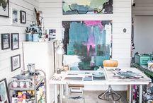 Sewing Room Ideas / sewing room, sewing workspace, craft workshop, craft workspace, sewing, makers space,