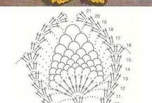 crochet girasol