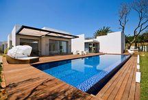 Pool deck, tile and lighting