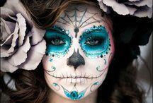 Schminken/Face paint / Inspiratie voor schminken and facepainting