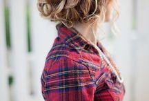 Fonott hajak, szép frizurák