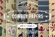 COWBOY PAPERS / DIGITAL PAPERS - COWBOY PAPERS BY DIGITAL PAPER SHOP
