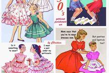 Sissy 1950 petticoat punishment art