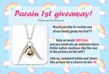 Pastel Rainbow giveaways
